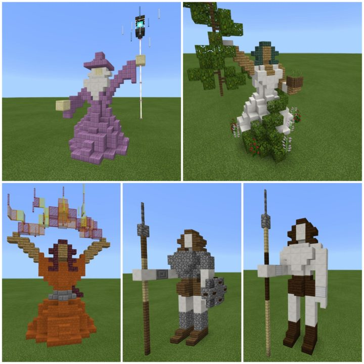 A few new Minecraft statues
