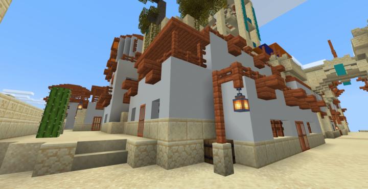 Desert walled city