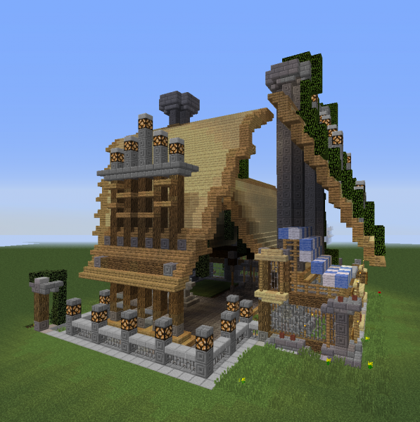 Fantasy overgrown house 9