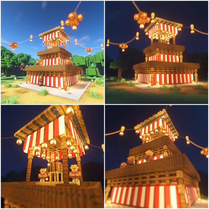 Japanese festival stage (yagura)
