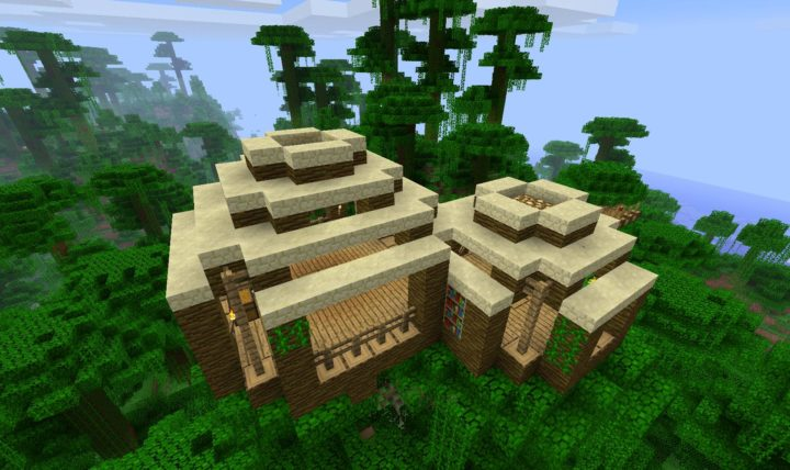 Jungle biome home idea 2