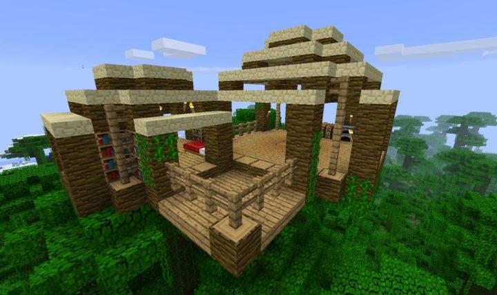 Jungle biome home idea
