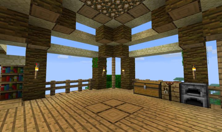 Jungle biome home interior
