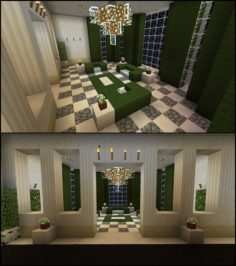 Minecraft Green Living Room Furniture Curtains Chandelier