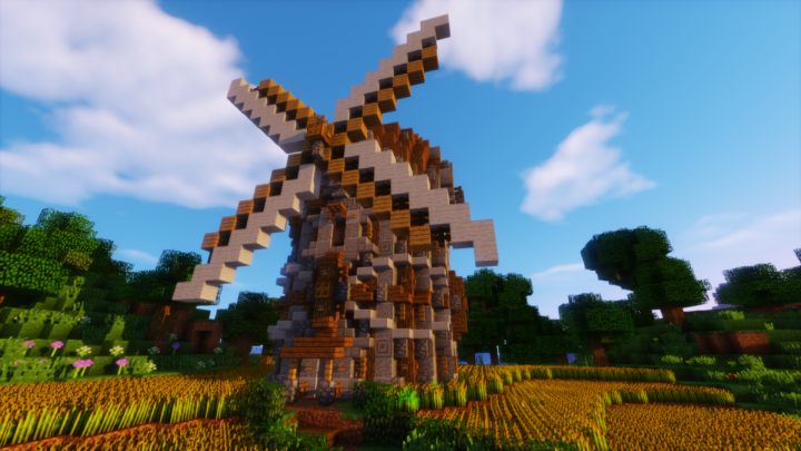 Minecraft Ornate Windmill