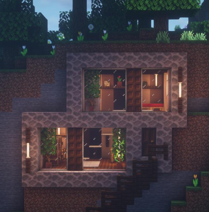 Modern Hill-side House