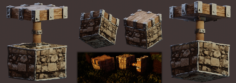 Realistic Minecraft Piston Modelled and Rendered in Blender