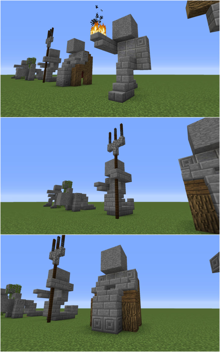 Small Minecraft Statues