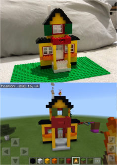 When you're in love with both LEGO and Minecraft