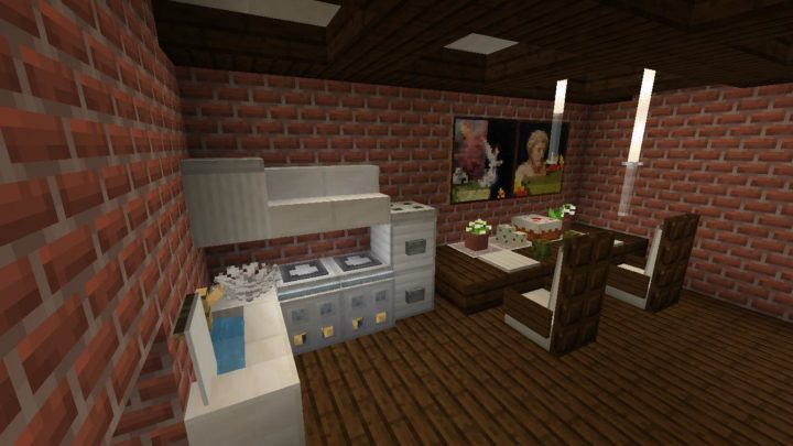 A kitchen and a dining room