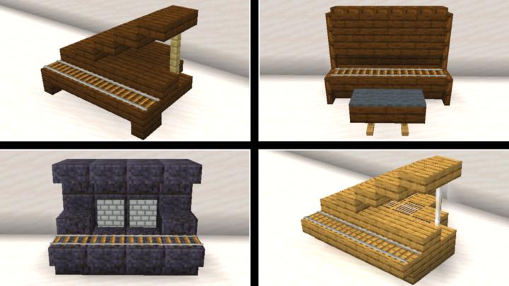 Minecraft Piano Designs by ToastyGhosty4