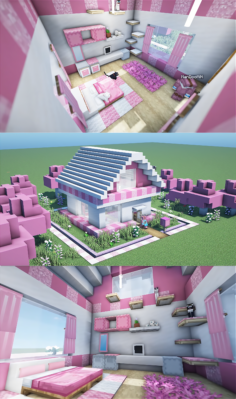 Cute Pink House Design