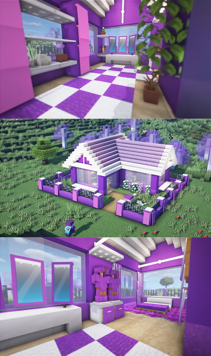 Cute Purple House Design