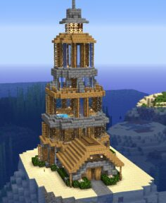 Lighthouse on an island