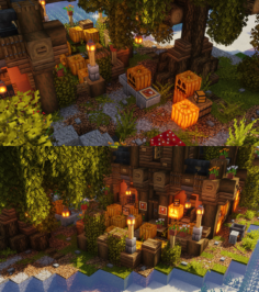 A pumpkin shop area