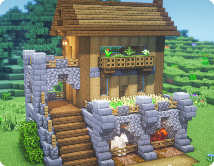 Survival House with farm and stables