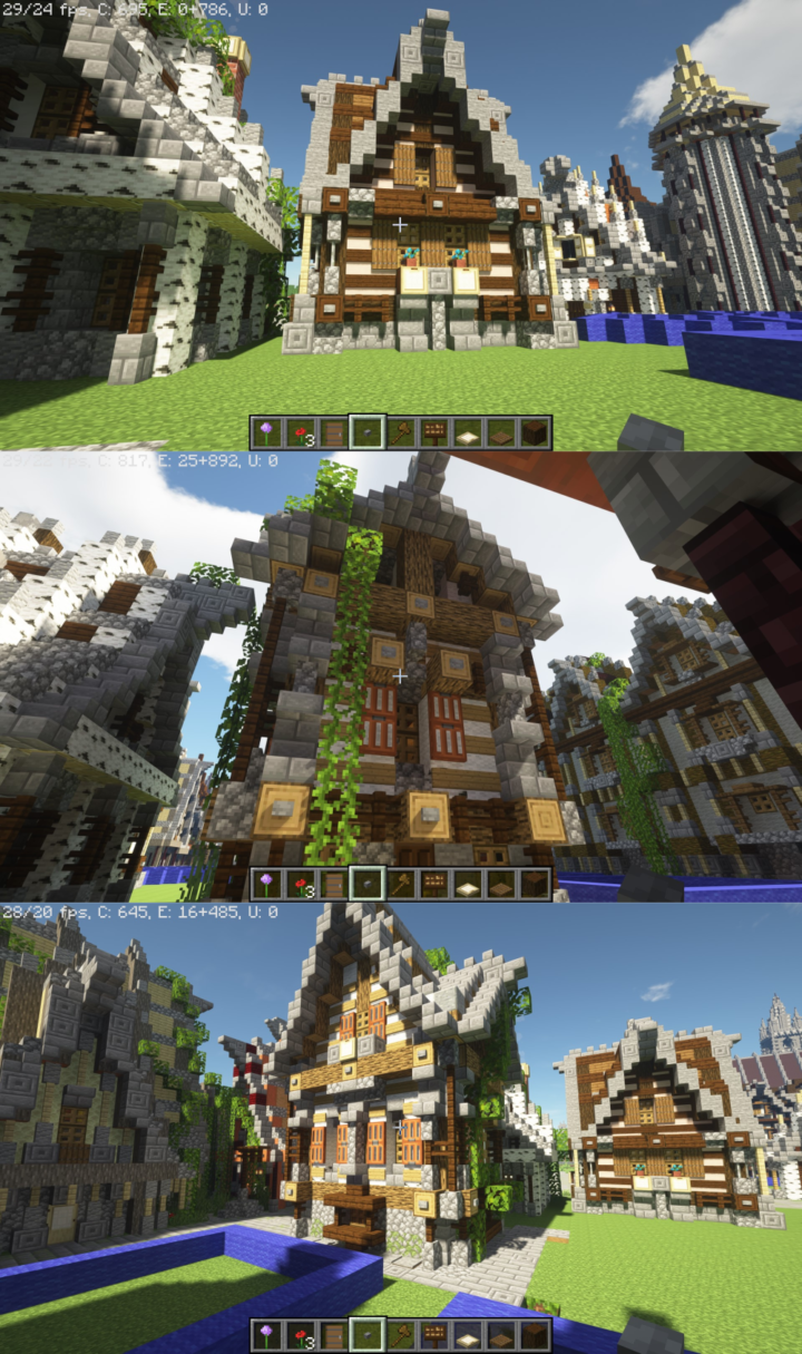 New medieval house styles by Joe Fisher